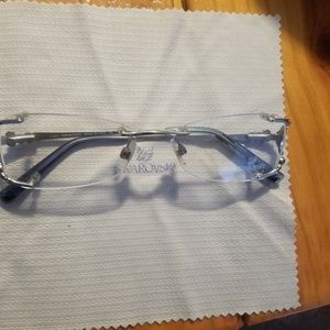 Swarovski rimless crystal glasses